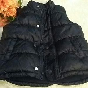 Old navy puffer vest navy blue